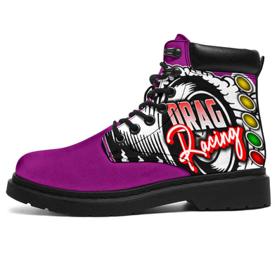 Drag Racing All-Season Boots pink