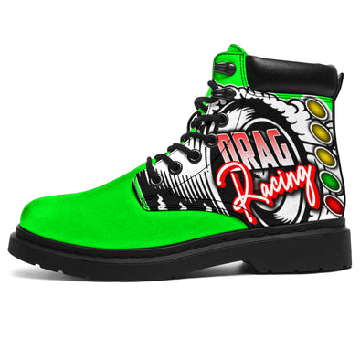 Drag Racing All-Season Boots pistachio