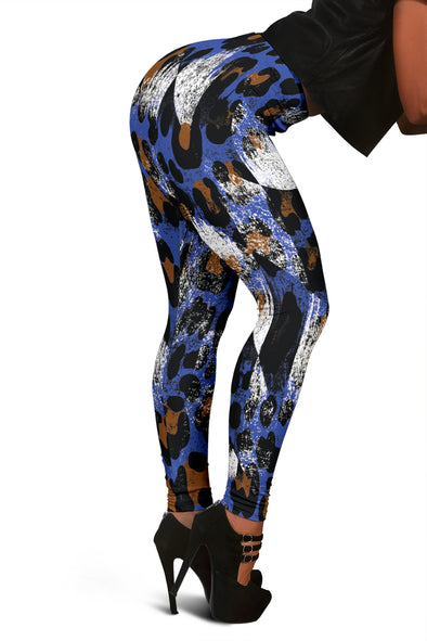 Racing Leopard Checkered Leggings