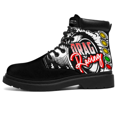 Drag Racing All-Season Boots Black