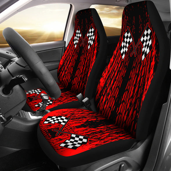 Dirt Racing Seat Covers Red