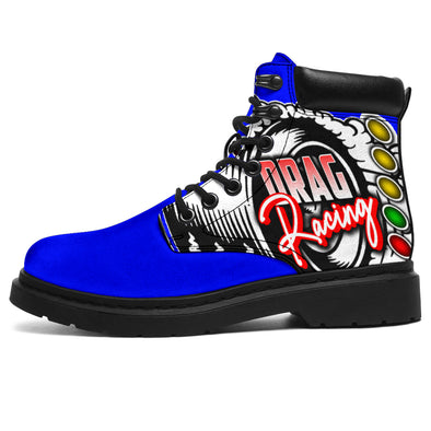 Drag Racing All-Season Boots blue