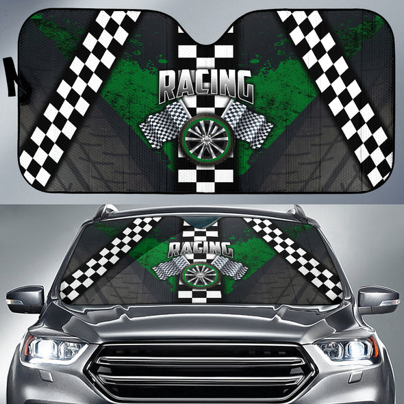 Racing Windshield Sun Shade Green