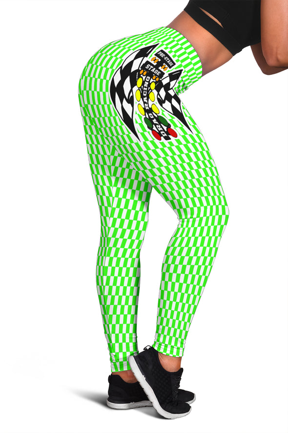 Drag Racing Pistachio Flag Leggings