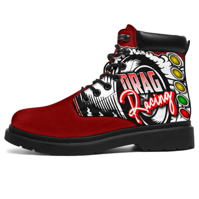 Drag Racing All-Season Boots red