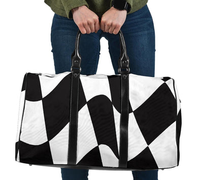 racing checkered flag travel bag