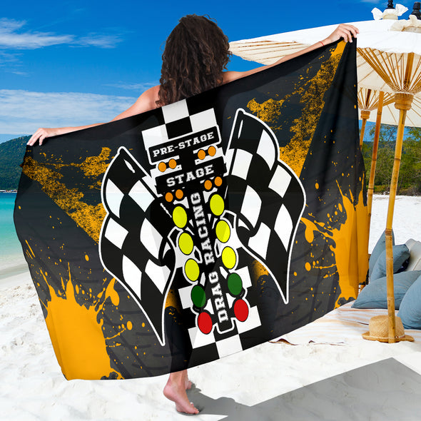 Drag Racing Sarong Orange