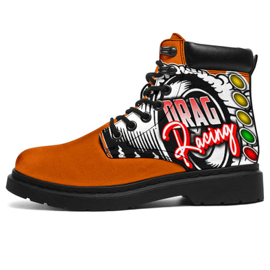 Drag Racing All-Season Boots orange