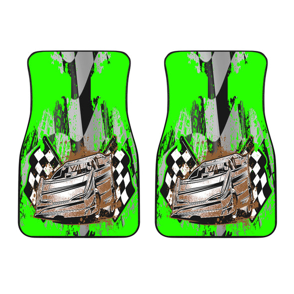2 Front Dirt Racing Late Model Pistachio Car Mats