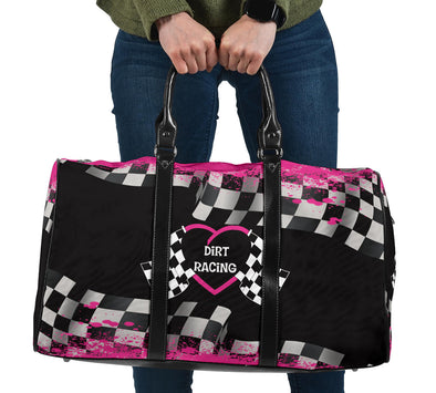 Dirt Racing Travel Bag Pink