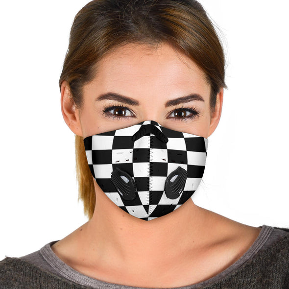 Racing Checkered Flag Face Mask Premium Quality