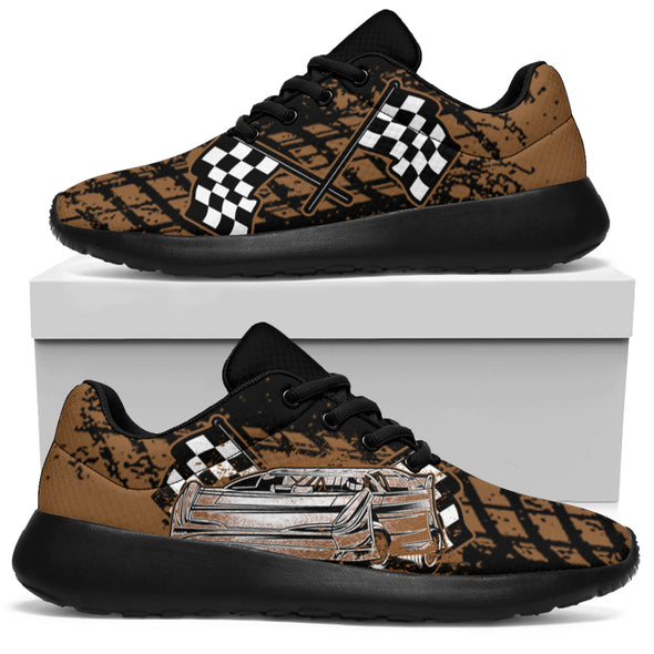 Dirt Racing Muddy Late Model Sneakers Black
