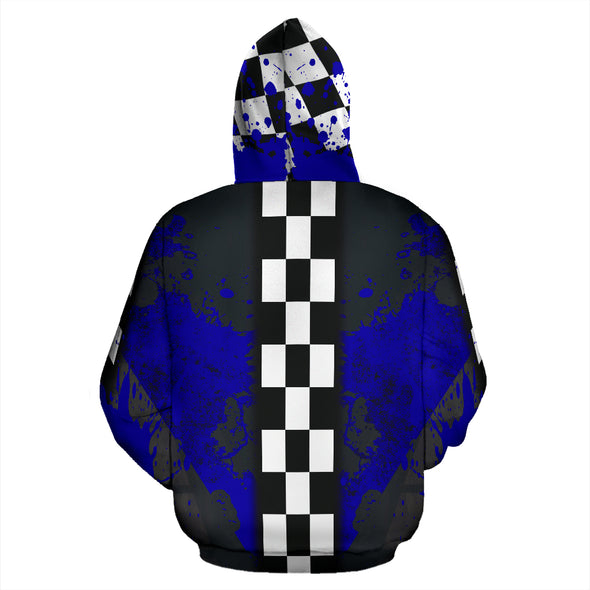 Racing All Over Print Hoodie New Blue