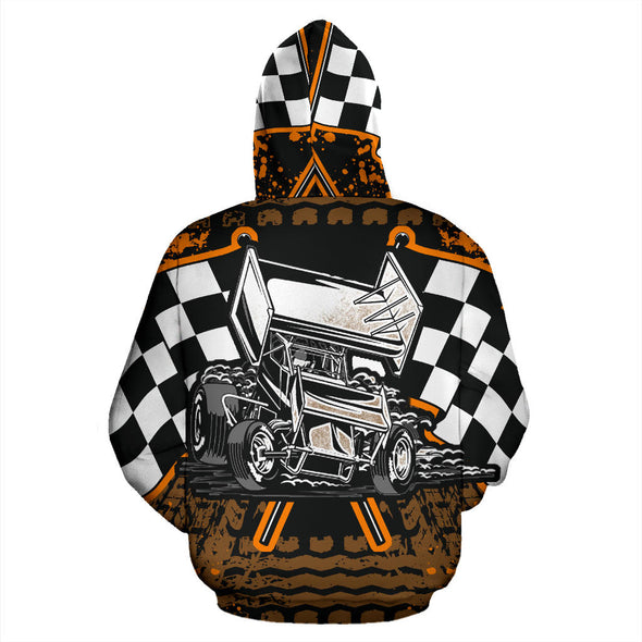 Sprint Car Racing All Over Print Zip Up Hoodie!