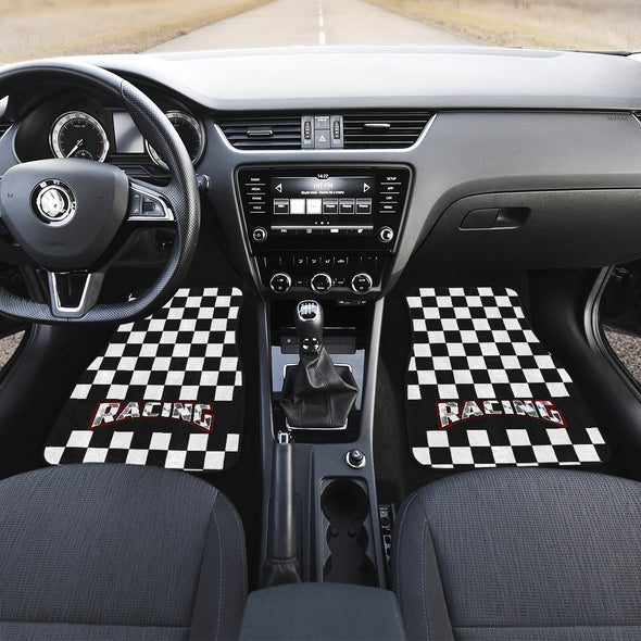 Racing Checkered Flag Car Mats