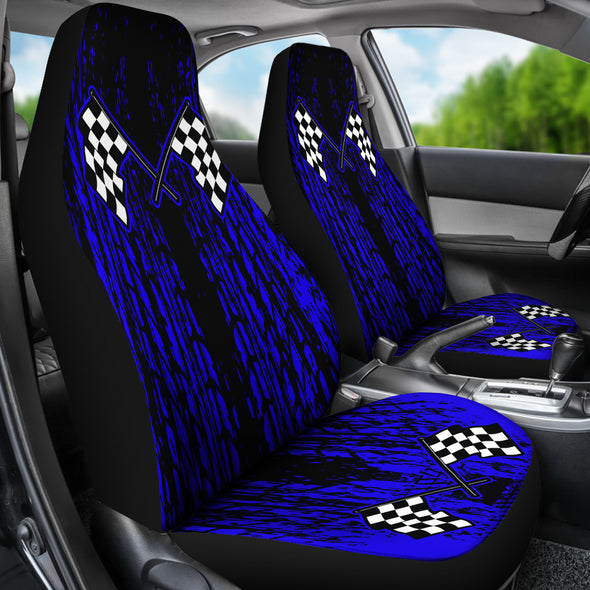 Dirt Racing Seat Covers Blue