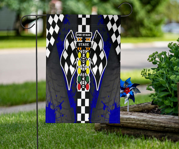 Drag Racing Flag Blue