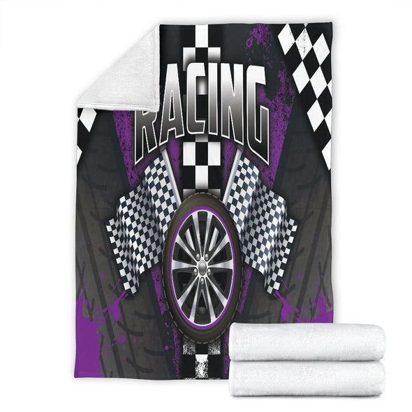 Racing Purple Blankets