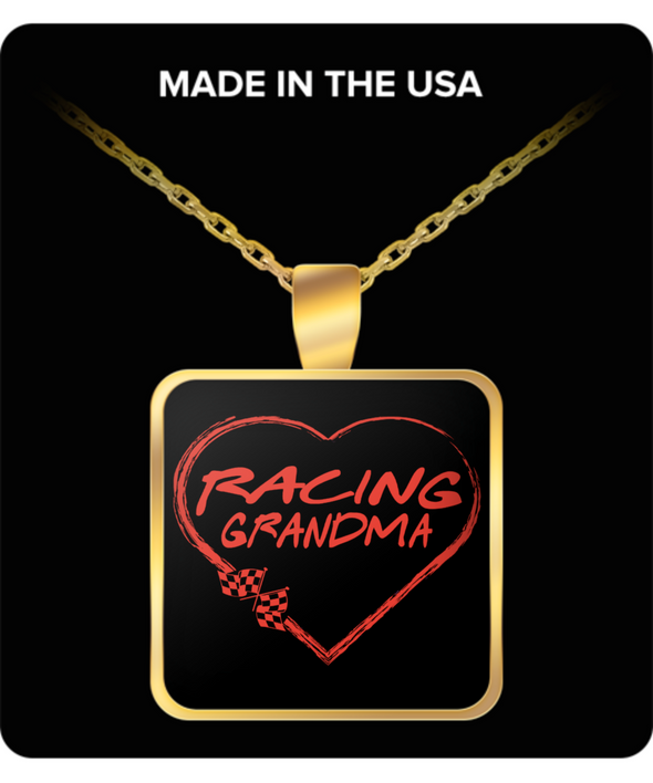 Racing Grandma Heart Necklaces