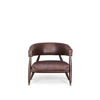 Varro Armchair Aged Brown