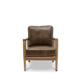 Reid Armchair - Brown Leather
