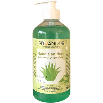 500ml Hand Sanitiser Gel with Pump, 80% Ethanol with Aloe Vera