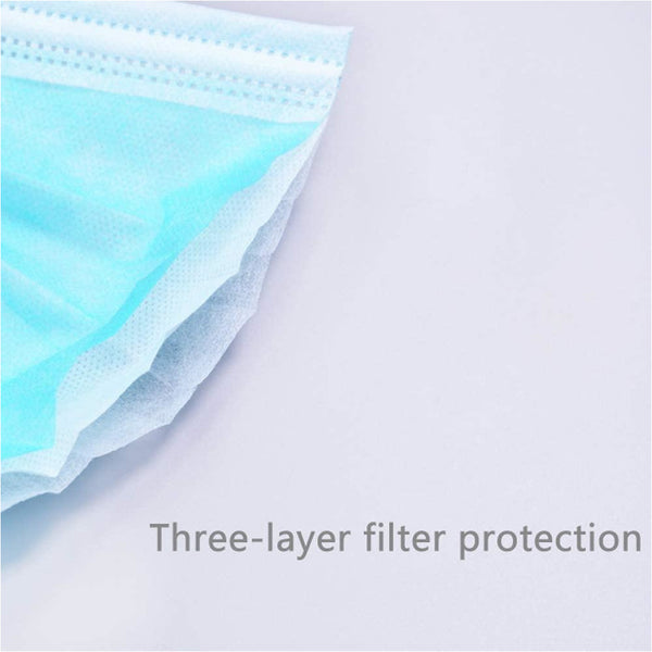 BUNDLE: Disposable FaceMask, 3 Layer Mask 2x50 (100 Masks)
