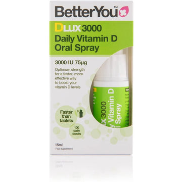 DLux Vitamin D 3000IU Supplement Spray (15ml)