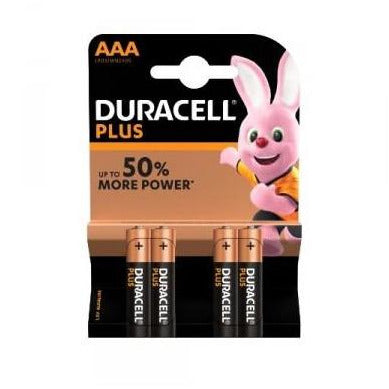 Duracell Plus AAA Batteries (4)