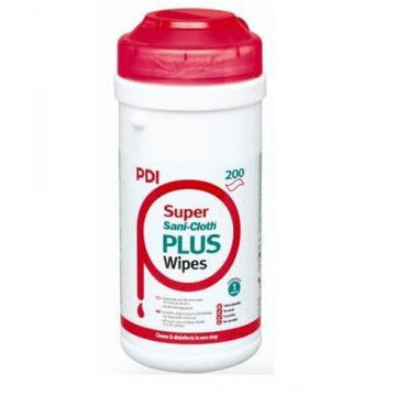 Sanicloth Super Plus Alcohol Disinfectant Wipes in Easy Pull Dispenser (200)