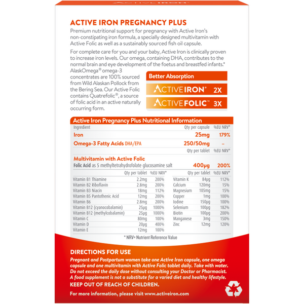 Active Iron Pregnancy Plus Omega 3 (30)