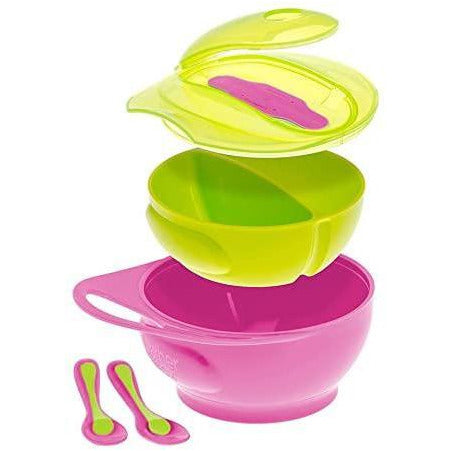 Brother Max Weaning Bowl Set Pink