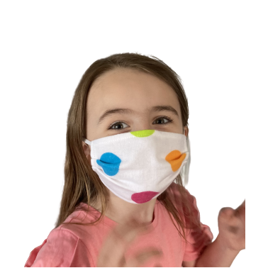 Kids Cotton Cloth Facemask - Washable, Reusable (Spots)