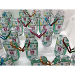 HANDZ Sanitiser Bottle with Carabiner Clip (with 50ml Fill 80% Aloe Vera Alcohol Gel) x 4