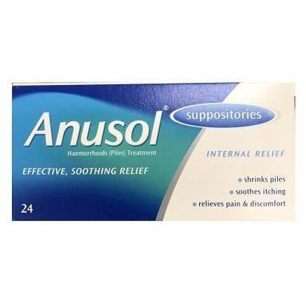 Anusol Suppositories (24), Haemorrhoids (Piles) Treatment
