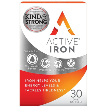 Active Iron Tablets (30), Gut Friendly Iron Supplement