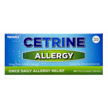 Cetrine Allergy 10mg, Tablets (30), Fast Relief Anti-Allergy and Hayfever Medicine