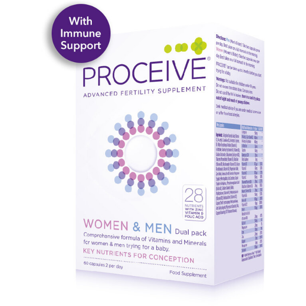 Proceive Women & Men Dual Pack (120) Capsules, Advanced Fertility Supplement