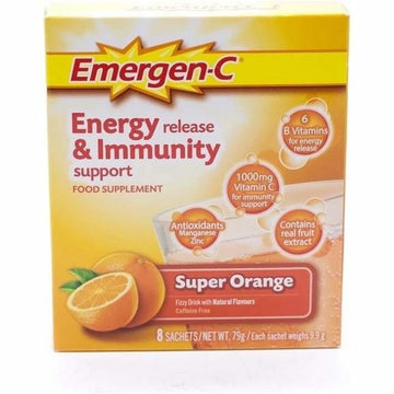 Emergen-C Vitamins C, B12 and B6 Orange Sachets (8)