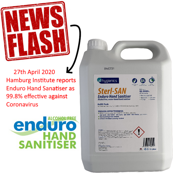 BUNDLE: 4 x 5L (20 Litres) Foaming Enduro Hand Sanitiser CLEARANCE SALE