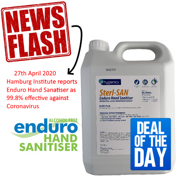 5L Foaming Enduro Hand Sanitiser, Water based - Skin Friendly- CLEARANCE SALE
