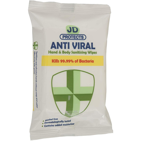 JD Protects Hand & Body Cleansing Wipes (15)
