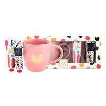 Love & Kisses Heart Mug Gift Set