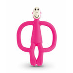 Matchstick Monkey Teething Toy & Gel Applicator Pink
