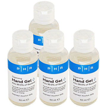 60ml x 4 PACK Hand Sanitiser with Flip Top Lid, 60% Alcohol Gel