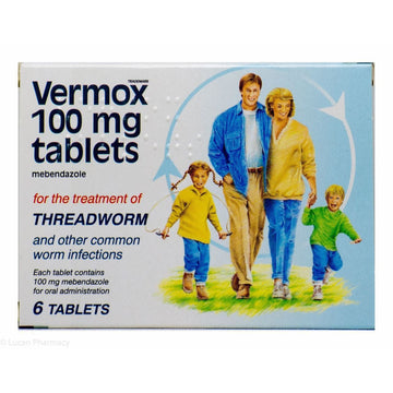Vermox 100mg Worm Tablets (6)