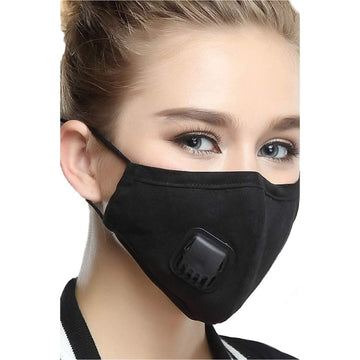 Reusable, Washable, Anti-microbial Cloth Facemask - BLACK