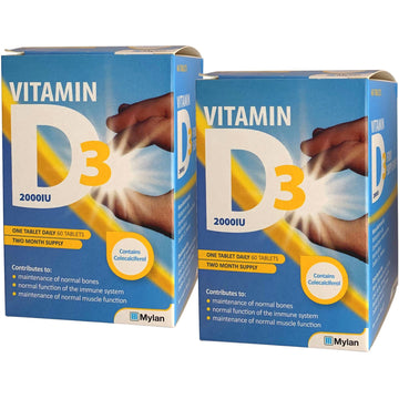 Meda Vitamin D3 2000IU (50mcg) Tablets (120), Extra High Strength