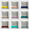 Stripes Polyester Peach Skin Pillow Cushion Case