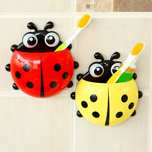 Cute Ladybird, Beetle, Toothbrush & Toothpaste Holder - KronoWorld Secure Online Shopping